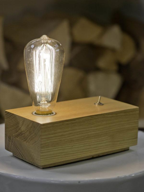 Tafellamp essenhout Kobe l.20xb.10xh.8cm naturel, rechthoekig it's about RoMi Tafellamp KOBE/TR