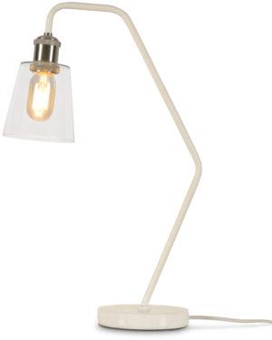 Tafellamp glas/marmer Paris b.34xh.53cm/kap dia.12xh.13cm, wit it's about RoMi Tafellamp PARIS/T/W