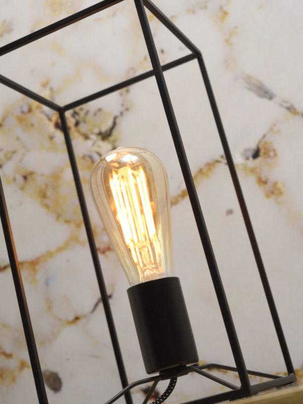Tafellamp ijzer Antwerp rechthoek 15x15xh.30cm, zwart it's about RoMi Tafellamp ANTWERP/T/B