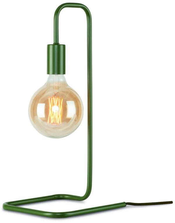 Tafellamp ijzer London 20x20xh.45,5cm, olijfgroen it's about RoMi Tafellamp LONDON/T/OG