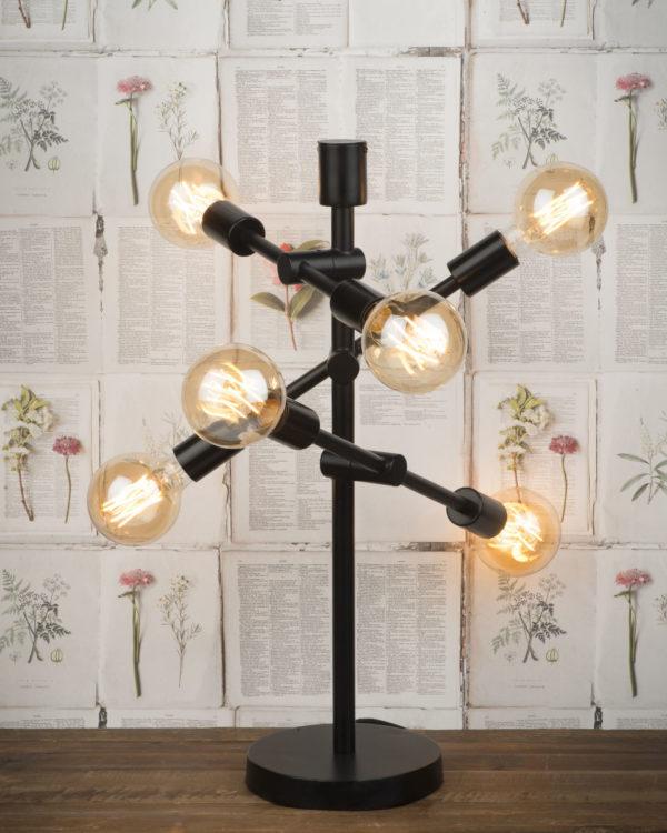 Tafellamp ijzer Nashville 3-arm h.64xb.39cm verstelbaar zwart it's about RoMi Tafellamp NASHVILLE/T/B
