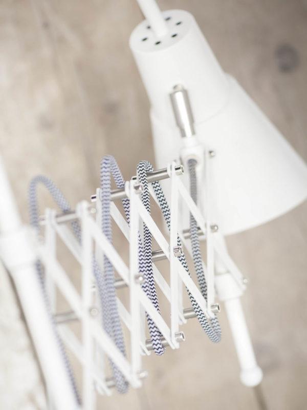 Tafellamp ijzer Oxford h.64xl.28-60cm/kap dia.15xh.28cm, white it's about RoMi Tafellamp OXFORD/T/W