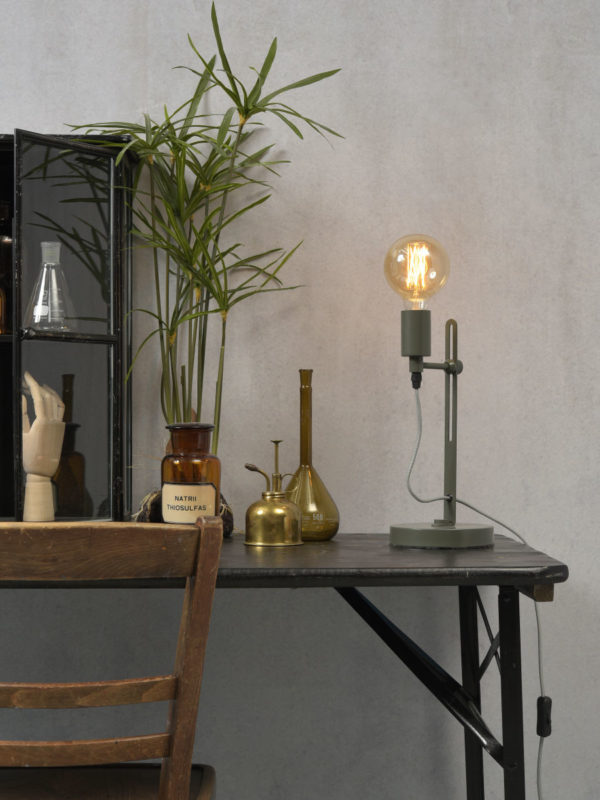 Tafellamp ijzer Seattle h.40xb.16cm verstelbaar, grijsgroen it's about RoMi Tafellamp SEATTLE/T2/GG