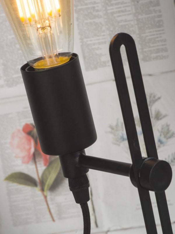 Tafellamp ijzer Seattle h.40xb.16cm verstelbaar, zwart it's about RoMi Tafellamp SEATTLE/T2/B