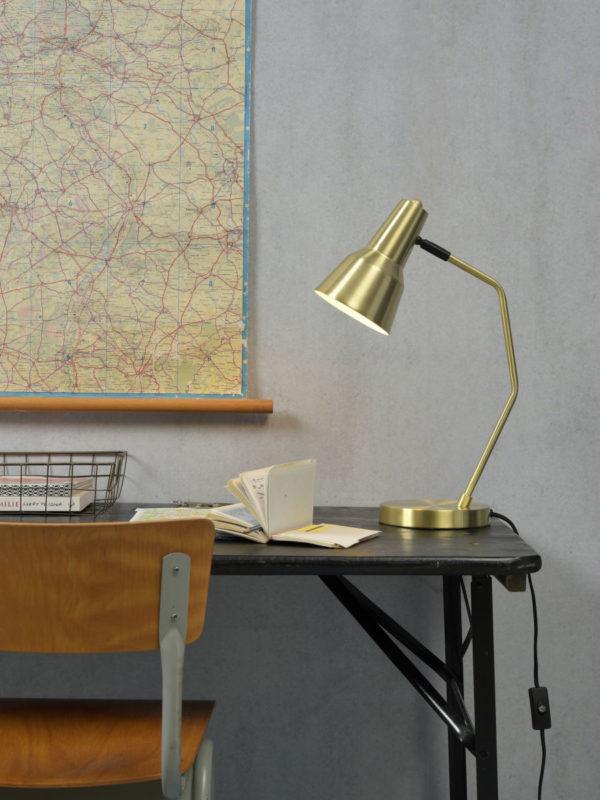 Tafellamp ijzer Valencia b.35xh.44cm/kap dia.12,5xh.20cm, goud it's about RoMi Tafellamp VALENCIA/T/GO
