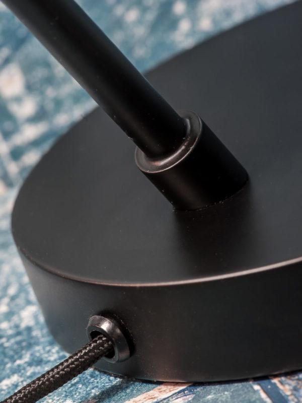Tafellamp ijzer Valencia b.35xh.44cm/kap dia.12,5xh.20cm, zwart it's about RoMi Tafellamp VALENCIA/T/B
