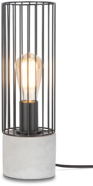 Tafellamp ijzerdraad/cement Memphis h.39xdia.11,5cm, zwart it's about RoMi Tafellamp MEMPHIS/T/B