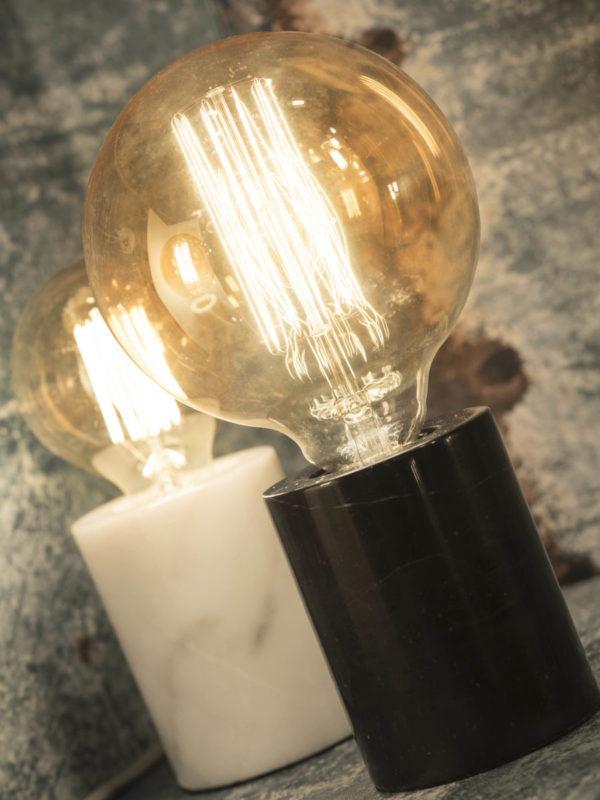 Tafellamp marmer Athens cilinder dia.7,5xh.10cm, zwart it's about RoMi Tafellamp ATHENS/T/B