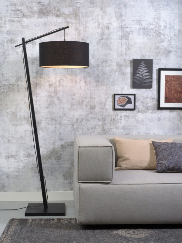 Vloerlamp Andes bamboe zw. h.176cm/kap 47x23cm ecolin. zw. it's about RoMi Vloerlamp ANDES/F/B/4723/B