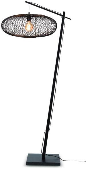 Vloerlamp Cango bamboe zw. h.176cm/kap 60x25cm, zwart it's about RoMi Vloerlamp CANGO/F/AD/B/6025/B