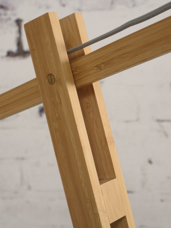Vloerlamp Montblanc bamboe h.207/kap 60x30cm eco linnen, zwart it's about RoMi Vloerlamp MONTBLANC/F/6030/B