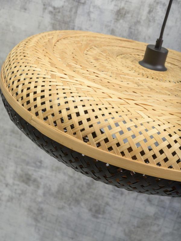 Vloerlamp Palawan bamboe zw.h.176cm/kap 60x15cm nat/zw. it's about RoMi Vloerlamp PALAWAN/F/AD/B/6015/BN