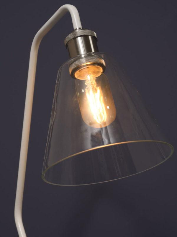 Vloerlamp glas/marmer Paris b.37xh.150cm/kap dia.16,5xh.15cm, wit it's about RoMi Vloerlamp PARIS/F/W
