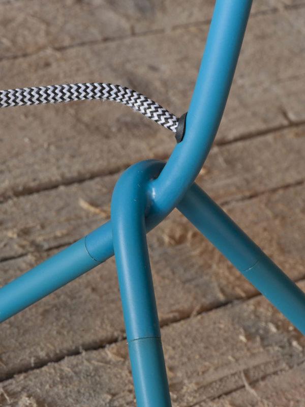 Vloerlamp ijzer 3-poot Barcelona 53x57x h.155cm/kap 21xh.18cm, teal blauw it's about RoMi Vloerlamp BARCELONA/F/TL