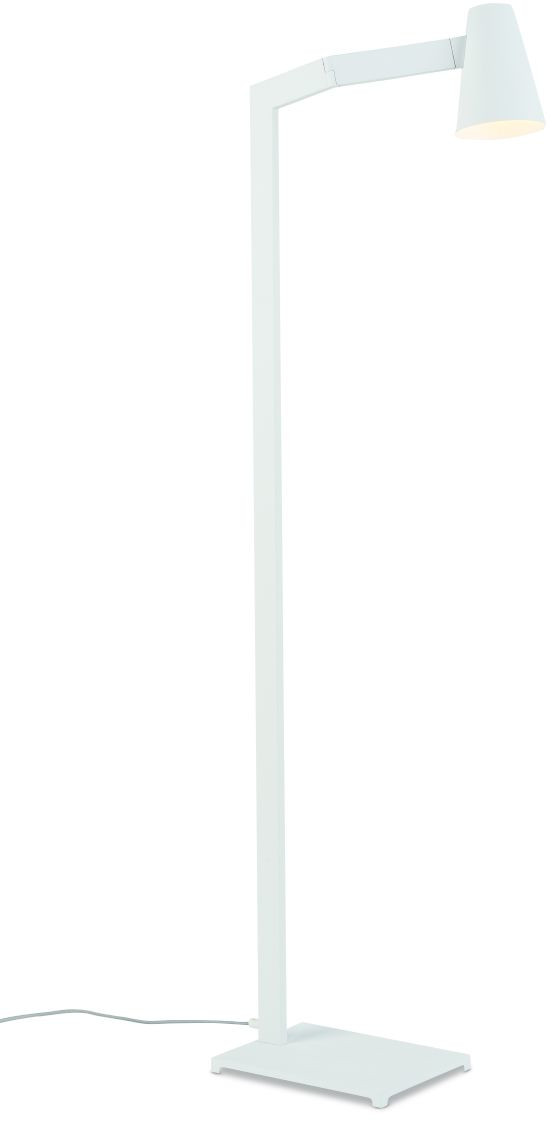 Vloerlamp ijzer Biarritz h.143xb.43cm/kap dia.12xh.16cm, wit it's about RoMi Vloerlamp BIARRITZ/F/W