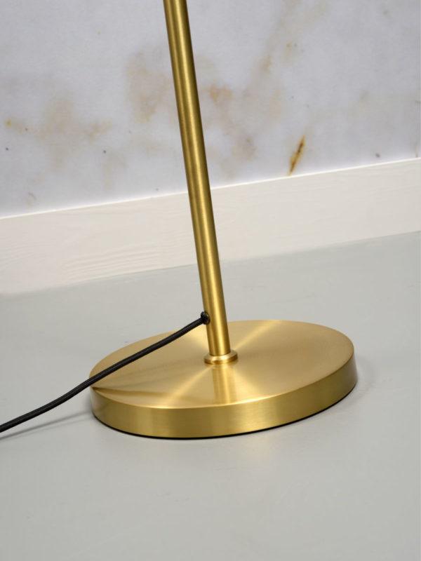Vloerlamp ijzer Lyon b.80xh.153cm/kap.dia.16xh.17cm, goud it's about RoMi Vloerlamp LYON/F/GO