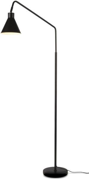 Vloerlamp ijzer Lyon b.80xh.153cm/kap.dia.16xh.17cm, zwart it's about RoMi Vloerlamp LYON/F/B