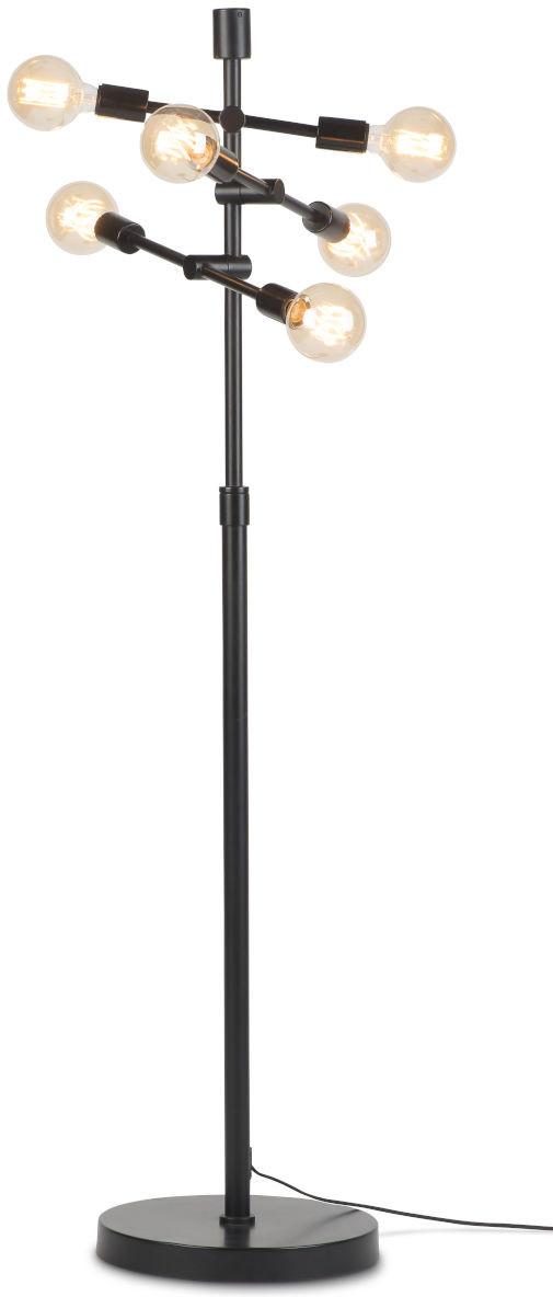 Vloerlamp ijzer Nashville 3-arm h.158xb.46cm verstelbaar zwart it's about RoMi Vloerlamp NASHVILLE/F/B