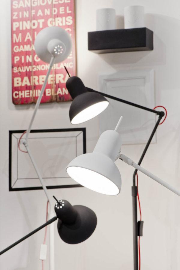 Vloerlamp ijzer Nottingham h.170cm/kap dia.16xh.15cm, mat wit it's about RoMi Vloerlamp NOTTINGHAM/F/W