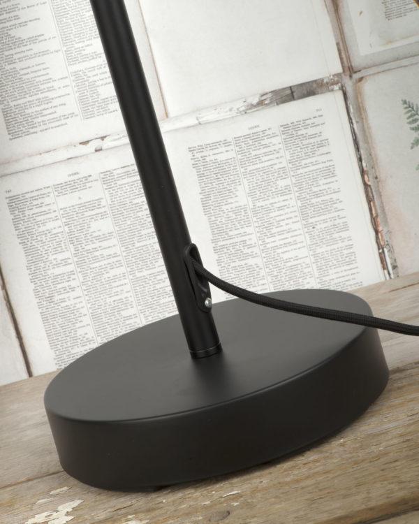 Vloerlamp ijzer Seattle h.152xb.23cm verstelbaar, zwart it's about RoMi Vloerlamp SEATTLE/F/B