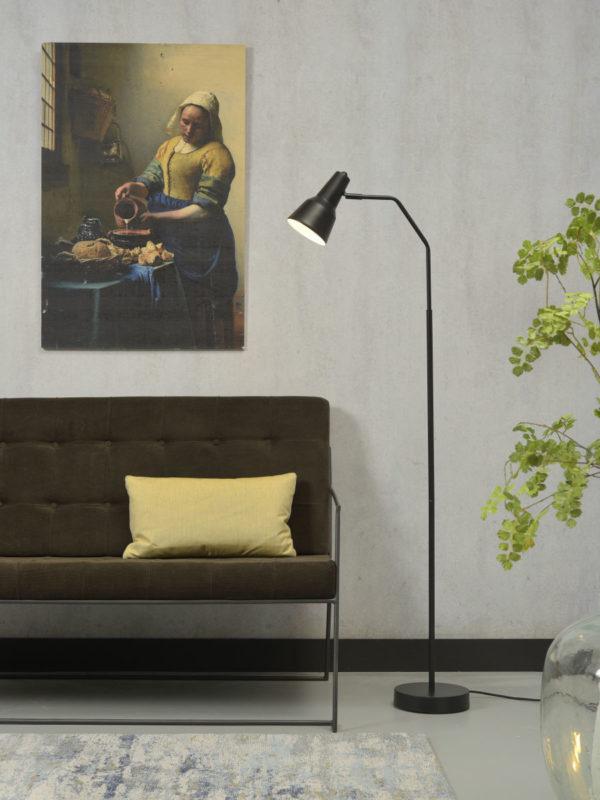 Vloerlamp ijzer Valencia b.49xh.144cm/kap dia.12,5xh.20cm, zwart it's about RoMi Vloerlamp VALENCIA/F/B