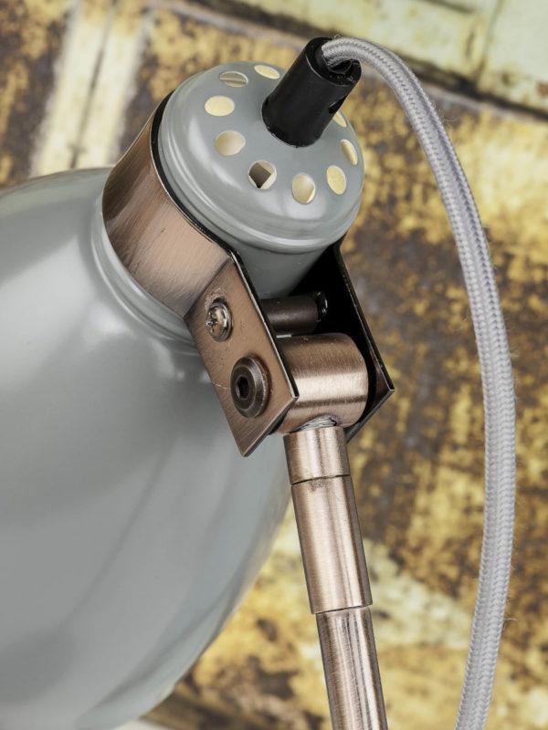 Vloerlamp ijzer/cement voet Denver b.37xh.145cm/kap rond dia.15xh.21cm, lichtgrijs it's about RoMi Vloerlamp DENVER/F/LG