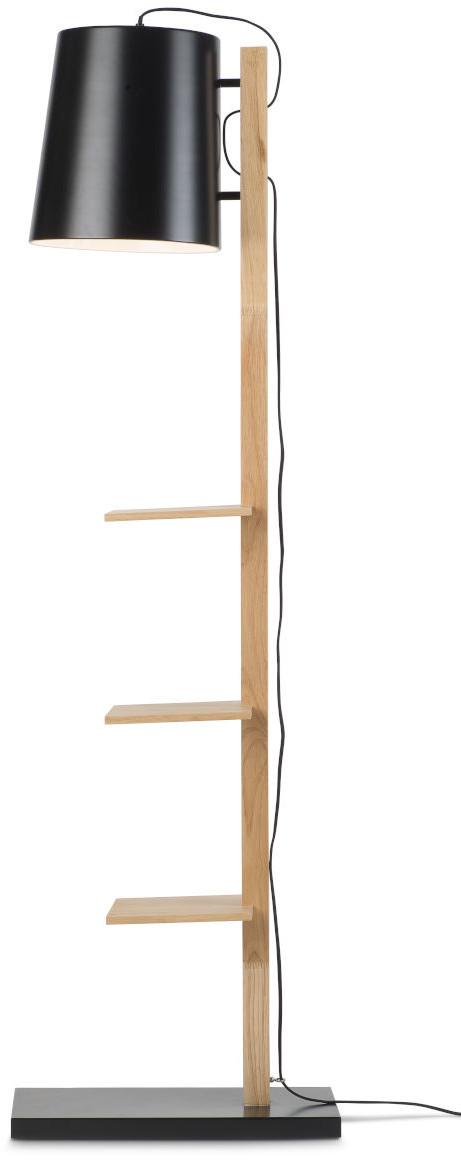 Vloerlamp ijzer/hout Cambridge v. boeken h.168cm/kap dia.30xh.32cm, naturel/zwart it's about RoMi Vloerlamp CAMBRIDGE/F/B