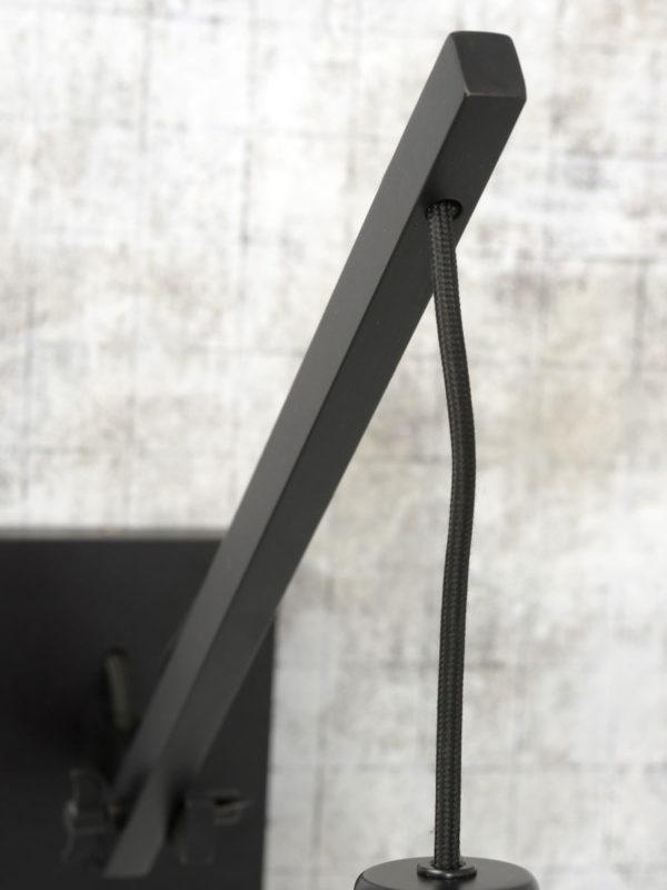 Wandlamp Andes bamboe zwart/kap 32x20cm ecolin. zw.,S it's about RoMi Wandlamp ANDES/W2/B/3220/B