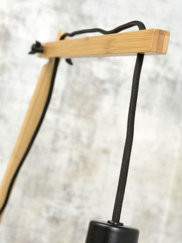 Wandlamp Cango naturel/kap dia.60x25cm zwart, L it's about RoMi Wandlamp CANGO/W3/AD/N/6025/B