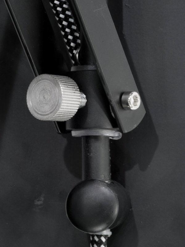 Wandlamp ijzer Belfast h.42/l.50-90cm, kap dia.25xh.26cm, mat zwart it's about RoMi Wandlamp BELFAST/W/B