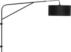 Wandlamp ijzer Brighton mat zwart/kap 47x23cm, zwart it's about RoMi Wandlamp BRIGHTON/W/B/4723/B