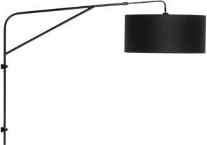 Wandlampsysteem ijzer Brighton h.110-120cmxl.130cm mat zwart it's about RoMi Wandlamp BRIGHTON/W/B