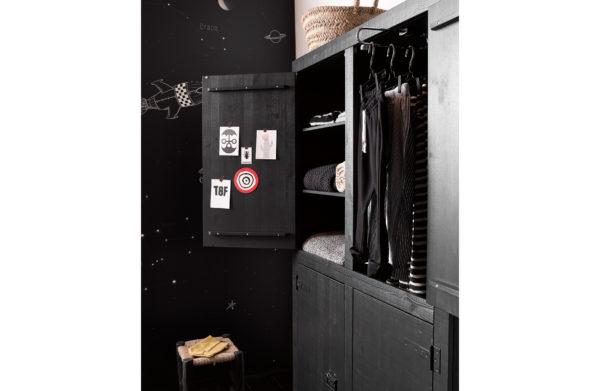 vtwonen Bunk 4-deurs Kast Grenen Mat Zwart Matt black Kast