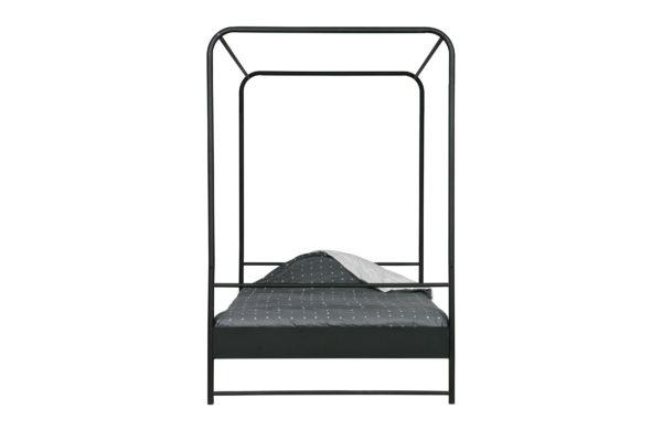 vtwonen Bunk Hemelbed Metaal Zwart 120x200cm Black Ledikant