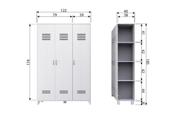 vtwonen Opberggigant Vt Locker 3-drs Wit White Kast