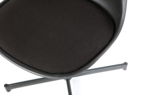 vtwonen Set/2 - Flow Eetkamerstoel Zwart Black Eetkamerstoel