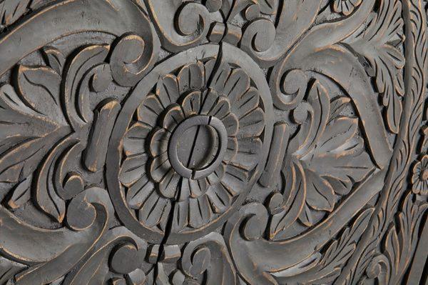 Carving kast nijwie - mangohout handwerk