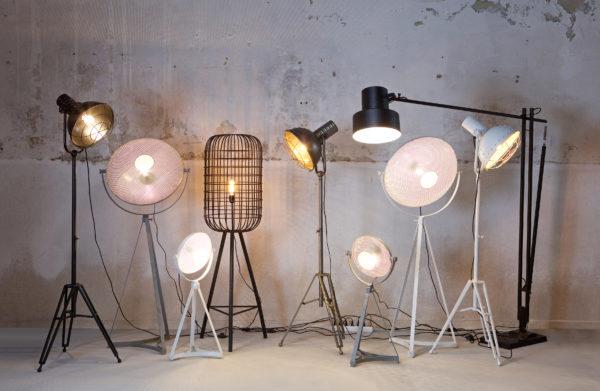 BePureHome Blown Staande Lamp Metaal Wit White Lamp