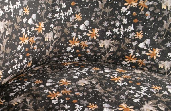 BePureHome Vogue 2-zitsbank Bankje Fluweel Aquarel Flower Zwart Aquarel flower black Bank