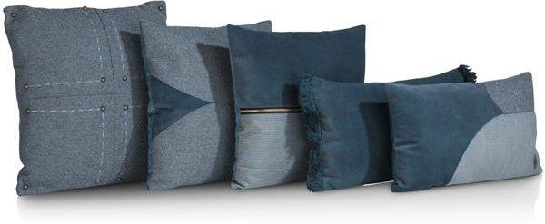 COCO maison Timeless kussenset 5-delig blauw  Sierkussen