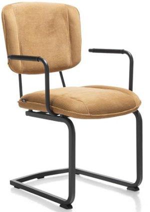 Henders & Hazel Lucy armstoel swing frame vierkant - stof maison - okergeel  Armstoel