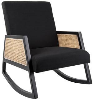 Rocking Chair Retro Webbing - Black Leitmotiv Woonaccessoire LM1865