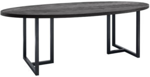 Pronto Wonen Ovale eettafel Veneta 230x110 eikenfineer zwart  Eettafel