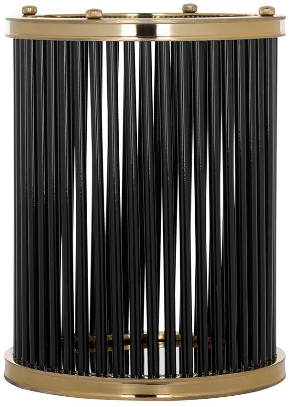 Richmond Interiors Windlicht Tygo groot (Black) Black Woonaccessoire
