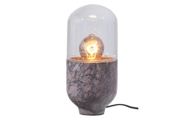 WOOOD Asel Tafellamp Marmer Glas Grijs Bruin Grey/brown Lamp