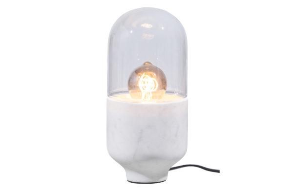 WOOOD Asel Tafellamp Marmer Glas Off White Off white Lamp