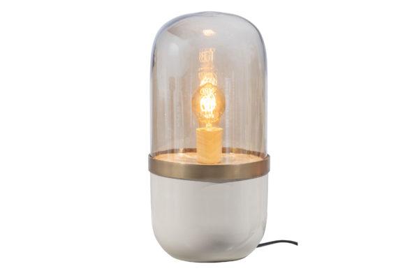 WOOOD Flora Tafellamp Metaal Glas Grijs Grey Lamp