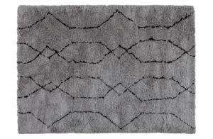 WOOOD NovÉ Vloerkleed Lichtgrijs/zwart 170x240cm Grey/black Woonaccessoire