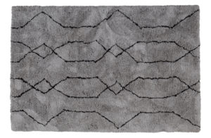 WOOOD NovÉ Vloerkleed Lichtgrijs/zwart 200x300cm Grey/black Woonaccessoire