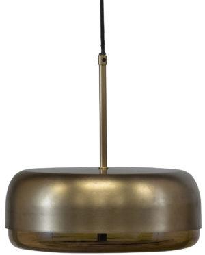 WOOOD Safa Hanglamp Horizontaal Metaal Glas Brass Black/brass Lamp
